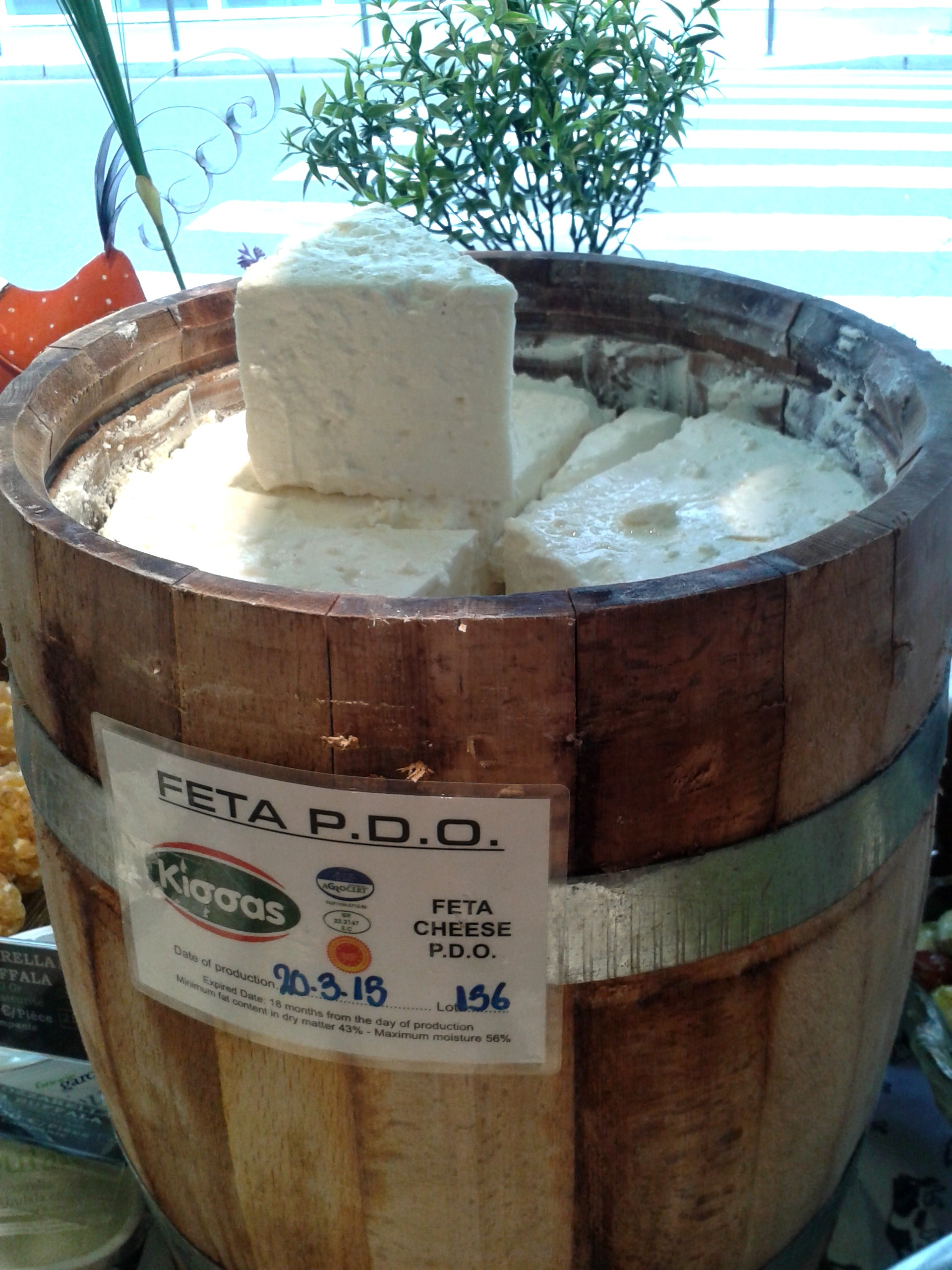 Feta PDO from the barrel